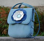 Kabelky - Ručně šitá kožená kabelka Lollita_blue - 11073725_