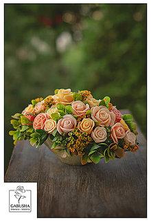 Dekorácie - Voňavá, dekoračná kytica - 11071874_