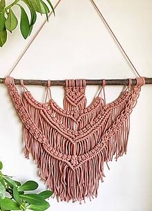 Dekorácie - Macrame tapestry // Rosa - 11074195_