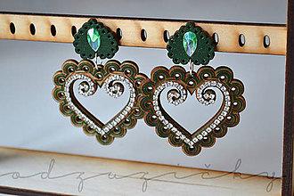 Náušnice - Náušničky Zuzička (cca. 5,5 cm - Zelená) - 11071516_