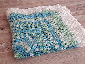 Úžitkový textil - Detská dečka bielomodrozelená - 11071760_