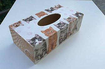 Krabičky - Zásobník na vreckovky - mačiatka - 11073912_