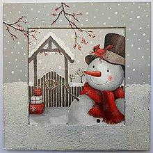 Obrázky - Zimný obrázok - Snehuliak - 11073049_