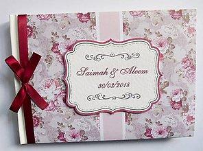 Papiernictvo - Svadobná kniha hostí - oslava, narodeniny - 11072142_