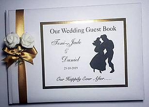 Papiernictvo - Svadobná kniha hostí - Ariel - 11072267_