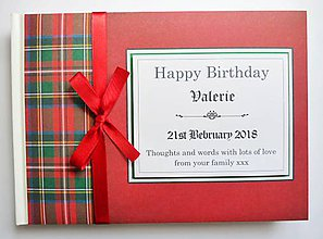Papiernictvo - Kniha hostí - dôchodok, narodeniny, svatba - škótsky dizajn - 11072587_