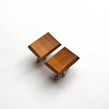 Šperky - Drevené manžetové gombíky - jabloňové obdĺžniky - 11071946_