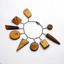 Náramky - Retiazkový náramok s drievkami - 11072041_