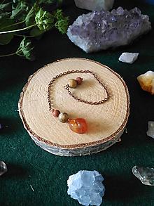 Iné šperky - Oranžové kyvadlo (Karneol, Jaspis, Rádiolarit) sakrálna čakra - 11071915_