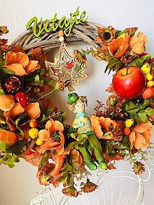 """Dekorácie - Veniec na dvere""""jesenná úroda""""-venčeky na dvere - 11076863_"""