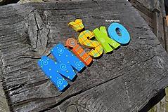 Detské doplnky - drevené písmenká so samolepom - 11075020_