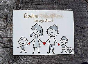 Tabuľky - Veľká rodinná tabuľka maľovaná - 11074980_