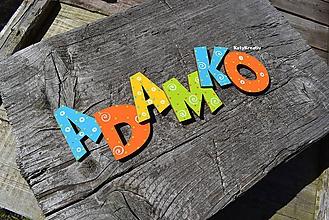 Detské doplnky - 6cm písmenká  - 11077075_