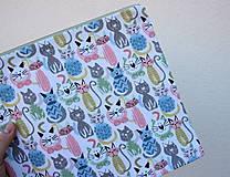 Taštičky - Mačky...veľká taštička - 11074507_