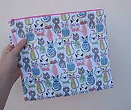 Taštičky - Mačky I...veľká taštička - 11074531_