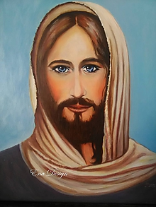 Obrazy - Kristus olejomaľba - 11075610_