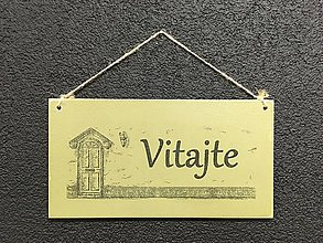 """Dekorácie - Tabuľka """" Vitajte """" dvere (Zelená) - 11076660_"""