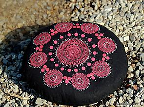 Úžitkový textil - Maľovaný ručne šitý meditačný vankúš MANDAKINI - 11076435_