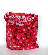 Nákupné tašky - Skladacia eko nákupná taška jabĺčka - 11075865_