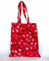 Nákupné tašky - Skladacia eko nákupná taška jabĺčka - 11075866_