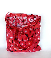 Nákupné tašky - Jabĺčková skladacia nákupná ekotaška v puzdre - 11075348_