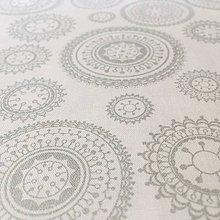 Textil - strieborné mandaly, 100 % bavlna, šírka 140 cm - 11076064_