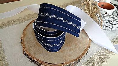 Opasky - Dámsky opasok modrotlač folklórny - folk - 11076807_