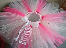 Detské oblečenie - Smotanovo-ružová tutu - 11076666_
