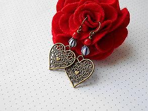 Náušnice - Veselé srdcia - 11076865_