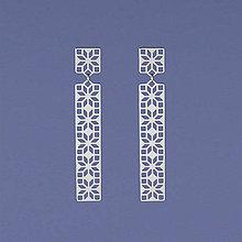 Náušnice - Náušnice FOLK geometrické 2 ch. oceľ/ pozlátené - 11077483_