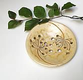 Nádoby - Keramická mydelnička - okrúhla - 11078034_