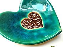 Nádoby - keramická miska - Srdce - 11078210_