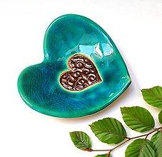 Nádoby - keramická miska - Srdce - 11078207_