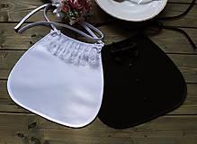 Iné doplnky - Svadobné podbradníky-čierno biele - 11076942_