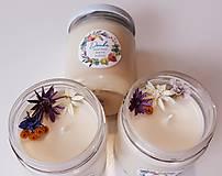 Svietidlá a sviečky - Sviečka zo sójového vosku 200g (Svieža posteľná bielizeň) - 11078022_