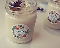 Svietidlá a sviečky - Sviečka zo sójového vosku 200g (Svieža posteľná bielizeň) - 11078026_