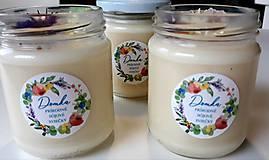 Svietidlá a sviečky - Sviečka zo sójového vosku 200g (Svieža posteľná bielizeň) - 11078032_