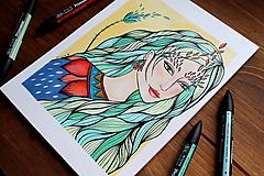 Kresby - Jeseň očakáva - originál - 11078928_