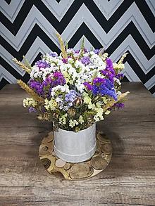 Dekorácie - Box so sušenými kvetmi - 11078735_