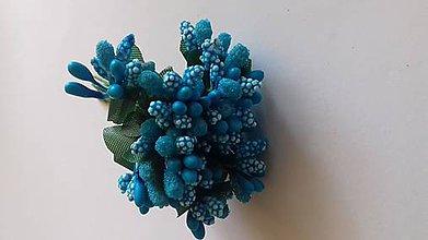 Iný materiál - Piestiky do kytíc (Modrá) - 11076525_