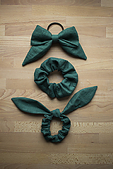 - Klasik scrunchie , Zajo scrunchie a Maxi mašľa UNICOLOR - 11079012_