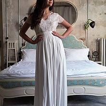Šaty - Svadobné šaty z francúzskej krajky lemované portou s nazbieranou sukňou - 11078280_