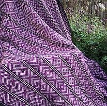 Úžitkový textil - Deka Strážov Čičmany - 11077682_