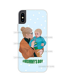 "Na mobil - Kryt na mobil ""#MOMMY´S BOY"" (mama a syn) - 11077998_"