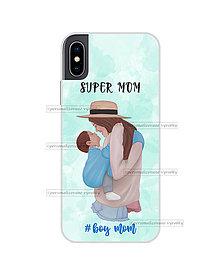 """Na mobil - Kryt na mobil """"Super mom - Boy mom"""" (mama a dcéra/mama a syn) - 11078011_"""