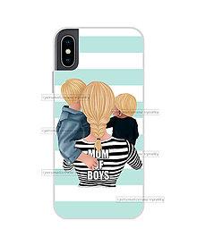 """Na mobil - Kryt na mobil """"MOM OF BOYS"""" (mama a synovia) - 11078104_"""