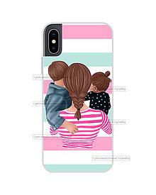 """Na mobil - Kryt na mobil """"MOM OF GIRL AND BOY"""" (mama-starší syn-mladšia dcéra) - 11078218_"""