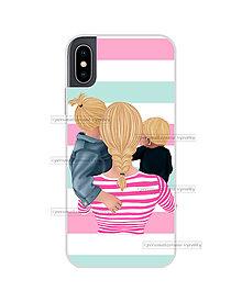 """Na mobil - Kryt na mobil """"MOM OF GIRL AND BOY"""" (mama-staršia dcéra-mladší syn) - 11078242_"""