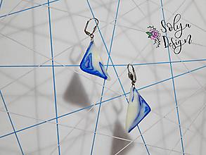 Náušnice - Abstraktné náušnice z polymerovej hmoty - Trojuholník - 11077494_