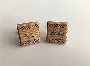 Šperky - Drevené manžetové gombíky - 11078793_